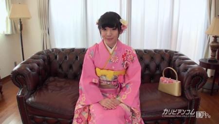姫川ゆうなが着物姿で新年の挨拶している画像